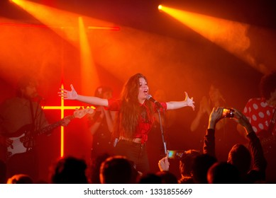 BARCELONA - MAY 10: Solea Morente (flamenco singer) performs in concert at Apolo stage on May 10, 2018 in Barcelona, Spain.