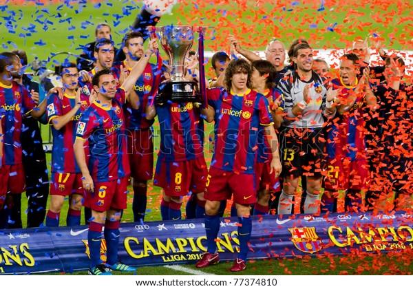 Barcelona May 15 Fc Barcelona Players Stock Photo Edit Now 77374810