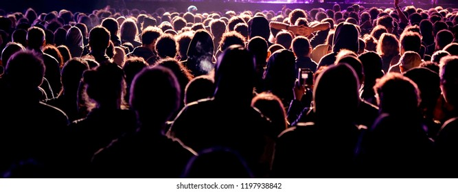 BARCELONA - MAY 16: Crowd in a concert at Razzmatazz stage on May 16, 2014 in Barcelona, Spain.