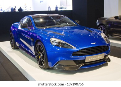 BARCELONA - MAY 17: Aston Martin Vanquish at Barcelona International Motor Show - Salon Internacional del Automovil, one of the five major shows in the world, on May 17, 2013, in Barcelona, Spain.
