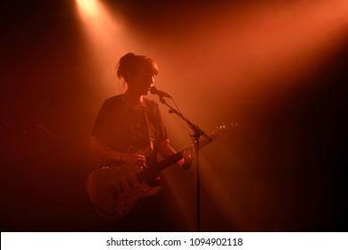 BARCELONA - MAY 17: Bryde (folk rock band) perform in concert at La Nau stage on May 17, 2018 in Barcelona, Spain.