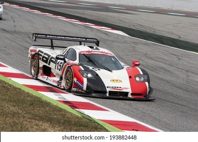 BARCELONA - MAY 18: A. de Mart�n / T. Onslow-Cole at CEV & CER Endurance Cup at Catalunya Circuit on May 18, 2014 in Barcelona, Spain.