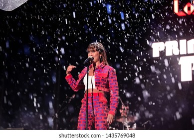 BARCELONA - MAY 18: Aitana (singer from Operacion Triunfo show) performs in concert at Primavera Pop Festival on May 18, 2019 in Barcelona, Spain.