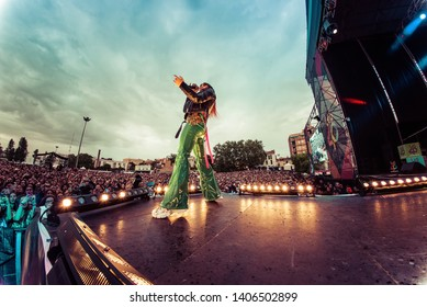 BARCELONA - MAY 18: Danna Paola (singer and actress) performs in concert at Primavera Pop Festival on May 18, 2019 in Barcelona, Spain.