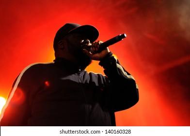 BARCELONA - MAY 23: Killer Mike, a rapper, performs at Heineken Primavera Sound 2013 Festival, Pitchfork Stage, on May 23, 2013 in Barcelona, Spain.