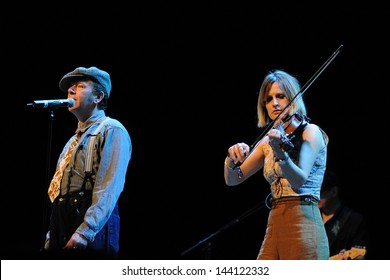 BARCELONA - MAY 25: Dexys band, performs at Heineken Primavera Sound 2013 Festival on May 25, 2013 in Barcelona, Spain. Originally called Dexys Midnight Runners.