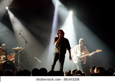 BARCELONA - MAY 25: Iceage (punk rock band) in concert at Apolo stage Primavera Sound 2015 Festival (PS15) on May 25, 2015 in Barcelona, Spain.