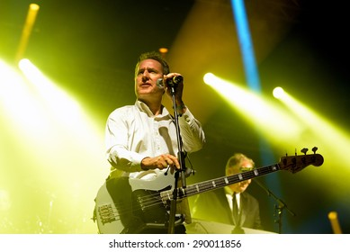 BARCELONA - MAY 27: Orchestral Manoeuvres in the Dark, also known as OMD,  (band) performs at Primavera Sound 2015 Festival, ATP stage, on May 27, 2015 in Barcelona, Spain.