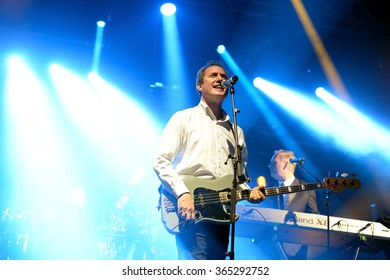 BARCELONA - MAY 27: Orchestral Manoeuvres in the Dark, also known as OMD,  (band) in concert at Primavera Sound 2015 Festival, ATP stage, on May 27, 2015 in Barcelona, Spain.