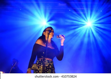 BARCELONA - MAY 28: Jungle (modern soul band) performs at Primavera Sound 2015 Festival on May 28, 2015 in Barcelona, Spain.