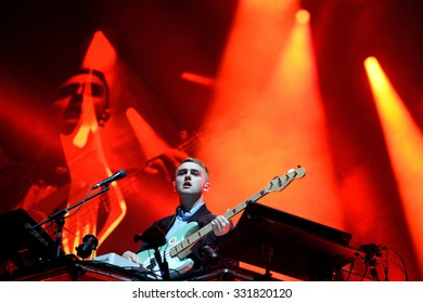 BARCELONA - MAY 29: Disclosure (English electronic music duo) performance at Heineken Primavera Sound 2014 Festival (PS14) on May 29, 2014 in Barcelona, Spain.