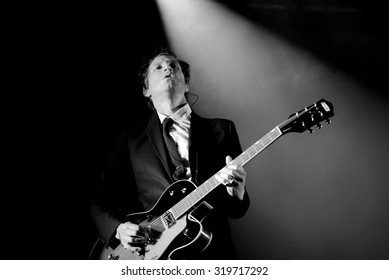 BARCELONA - MAY 30: Daniel Kessler, guitarist of Interpol (band), performs at Primavera Sound 2015 Festival on May 30, 2015 in Barcelona, Spain.