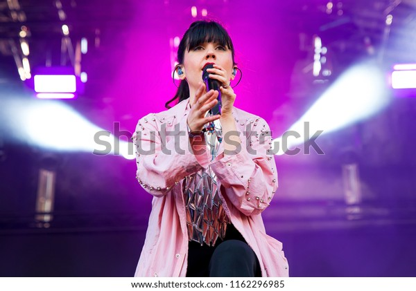 BARCELONA - MAY 30: Javiera Mena (band from Chile) perform in concert at Primavera Sound Festival on May 30, 2018 in Barcelona, Spain.