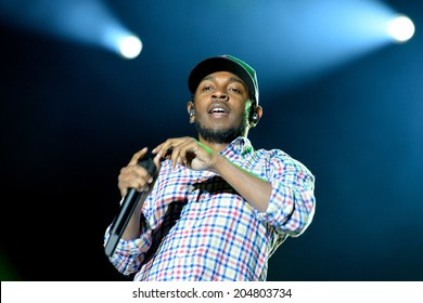 BARCELONA - MAY 30: Kendrick Lamar (American hip hop recording artist) performs at Heineken Primavera Sound 2014 Festival (PS14) on May 30, 2014 in Barcelona, Spain.