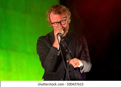 BARCELONA - MAY 30: The National (American indie rock band) in concert at Heineken Primavera Sound 2014 Festival (PS14) on May 30, 2014 in Barcelona, Spain.