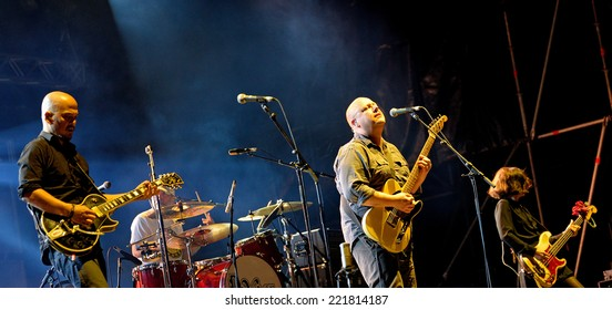 BARCELONA - MAY 30: Pixies (American alternative rock band) in concert at Heineken Primavera Sound 2014 Festival (PS14) on May 30, 2014 in Barcelona, Spain.