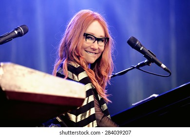 BARCELONA - MAY 30: Tori Amos (singer, songwriter, pianist and composer) performs at Primavera Sound 2015 Festival, Ray-Ban stage, on May 30, 2015 in Barcelona, Spain.