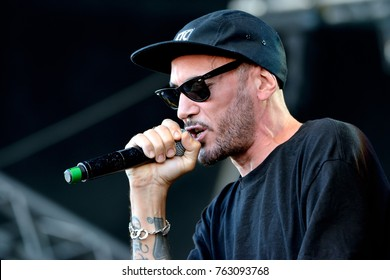 BARCELONA - MAY 31: 7 Notas 7 Colores (spanish rap music band) perform in concert at Primavera Sound 2017 Festival on May 31, 2017 in Barcelona, Spain.