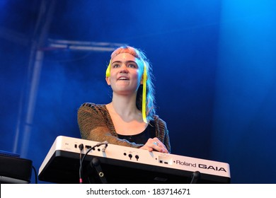 BARCELONA - MAY 31: Grimes  (Canadian producer, artist, musician, singer and songwriter) concert at Primavera Sound Festival on May 31, 2012 in Barcelona, Spain. Her real name is Claire Boucher.