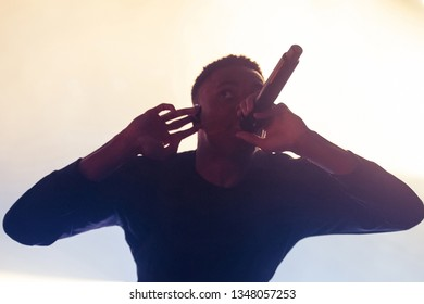 BARCELONA - MAY 31: Vince Staples (rap band) perform in concert at Primavera Sound Festival on May 31, 2018 in Barcelona, Spain.
