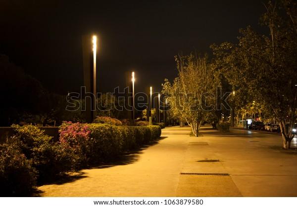 Barcelona night promenade