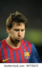 BARCELONA - NOV 19: Leo Messi of FC Barcelona during the spanish league match against Real Zaragoza at the Nou Camp Stadium on November 19, 2011 in Barcelona, Spain