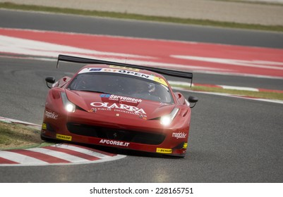BARCELONA - NOVEMBER 1: G. Roda / M. Ciocci at International GT Open at Catalunya Circuit on November 1, 2014 in Barcelona, Spain.