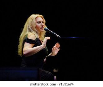 BARCELONA – NOVEMBER 4: Eliane Elias playing piano at the Barcelona Jazz Festival on November 4, 2011 in Barcelona, Spain.