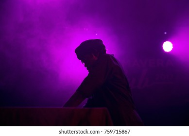 BARCELONA - OCT 20: Pauli (band) perform in concert at Primavera Club 2017 Festival on October 20, 2017 in Barcelona, Spain.