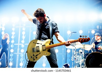 BARCELONA - OCT 30: Royal Blood (indie rock music band) perform in concert at Sant Jordi Club stage on October 30, 2017 in Barcelona, Spain.