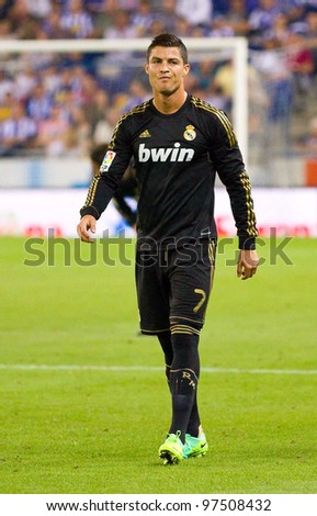 4b7c7ac47 BARCELONA - OCTOBER 2  Cristiano Ronaldo in action during the Spanish  League match between RCD Espanyol and Real Madrid