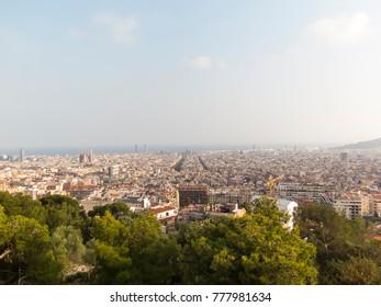 Barcelona panoramic view