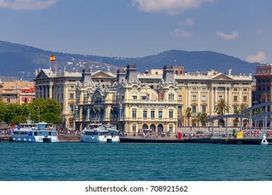 Barcelona. Sea port.