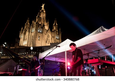 BARCELONA - SEP 4: Yo La Tengo (band) in concert at Tibidabo Live Festival on September 4, 2015 in Barcelona, Spain.