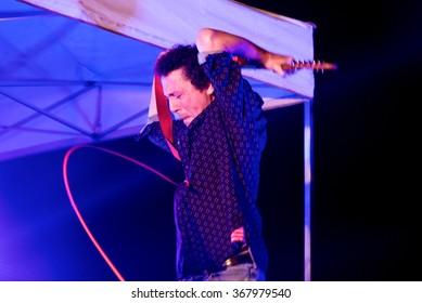 BARCELONA - SEP 4: Yo La Tengo (band) in concert at Tibidabo Live Festival on September 4, 2015 in Barcelona, Spain.