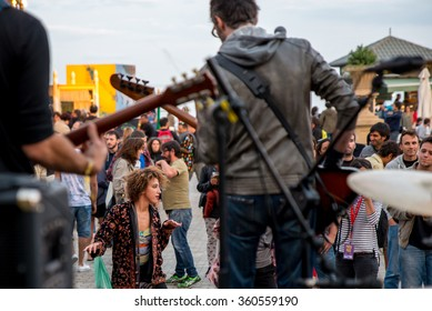 BARCELONA - SEP 5: Los Bracco (band) in concert at Tibidabo Live Festival on September 5, 2015 in Barcelona, Spain.