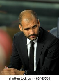 BARCELONA - SEPT, 17; Josep Guardiola manager of FC Barcelona before the spanish league match against Osasuna at the Nou Camp Stadium on September 17, 2011 in Barcelona, Spain