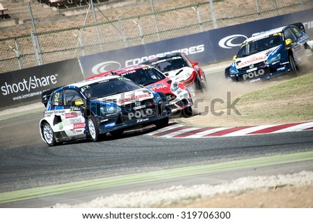 BARCELONA - SEPTEMBER 20: FIA WORLD RALLYCROSS CHAMPIONSHIP at Circuit de Catalunya on September 20, 2015, in Barcelona, Spain.