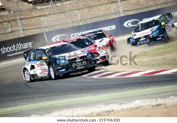 BARCELONA - SEPTEMBER 20: FIA WORLD RALLYCROSS CHAMPIONSHIP at Circuit de Catalunya on September 20, 2015, in Barcelona, Spain.