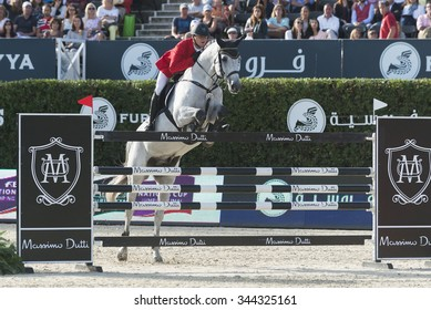 BARCELONA - SEPTEMBER 24: Ales Opatrny rider in action during the Furusiyya Nations Final Cup in Real Club Polo Barcelona, own September 24, 2015, Barcelona, Spain.