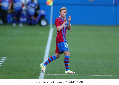 Barcelona, Spain. 08th August 2021 . Frenkie de Jong of Fc Barcelona  during the pre-season friendly match between Fc Barcelona and Juventus Fc  .