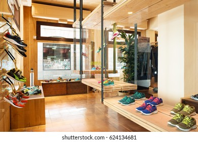 BARCELONA, SPAIN - 15 JUNE 2013: interior of Limited Edition sneakers store