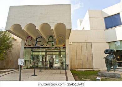 BARCELONA, SPAIN - 19 SEPTEMBER 2014 - Barcelona Miro museum