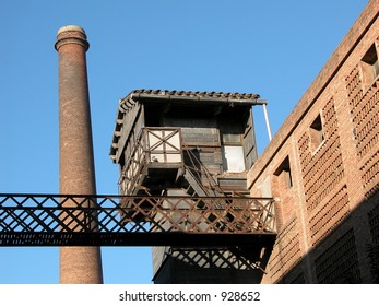 Barcelona, Spain. 19th century textile factory called Colonia Guell.