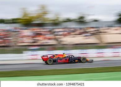 Barcelona, Spain. 9-12/05/2019. Grand Prix of Spain. F1 World Championship 2019. Max Verstappen, Red Bull.
