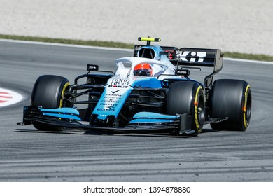 Barcelona, Spain. 9-12/05/2019. Grand Prix of Spain. F1 World Championship 2019. Robert Kubica, Williams.