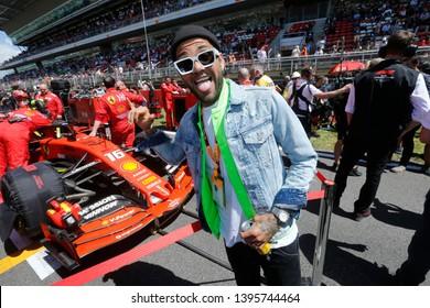 Barcelona, Spain. 9-12/05/2019. Grand Prix of Spain. F1 World Championship 2019. Dani Alves, football player, on the starting grid.