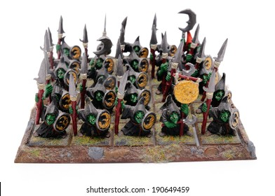 BARCELONA, SPAIN � APR 08, 2014: Warhammer action figures, isolated on white background.