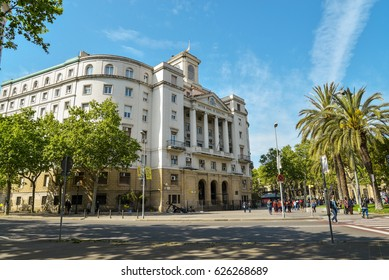 BARCELONA, SPAIN - April 15, 2017: Spanish Navy Headquarters in Barcelona, Spain. It is also called as Sector Naval de Cataluna.