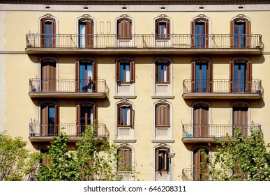 BARCELONA, SPAIN - April 16, 2017: one of the many residential house - sunny day